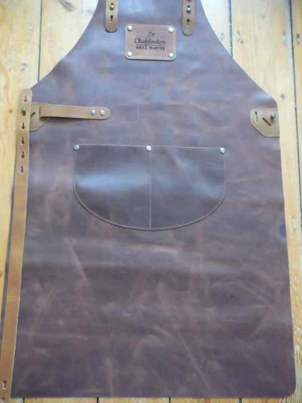 Leather bbq apron